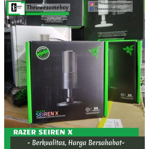 Foto Produk Razer Seiren X Professional Gaming Microphone Streaming Mic - Hitam dari Theawesomeboy