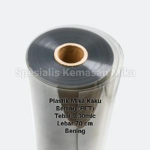 Foto Produk Plastik Mika Kaku Bening (PET) Meteran - 0.3mm. dari Spesialis kemasan mika