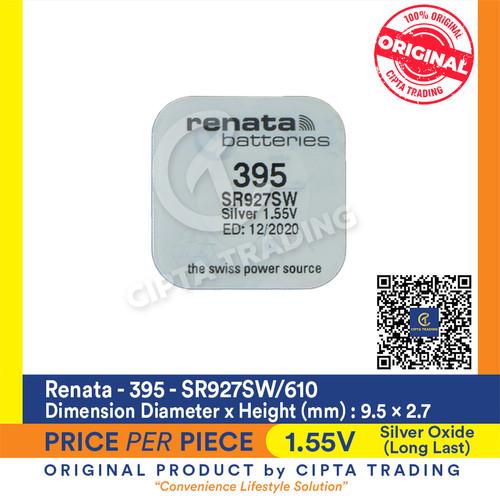 Foto Produk Button Cell - Renata - 395 (SR927SW) dari Cipta Trading