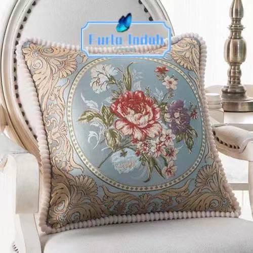Foto Produk sarung bantal sofa mewah import 45×45CM - Biru dari Furla Indah
