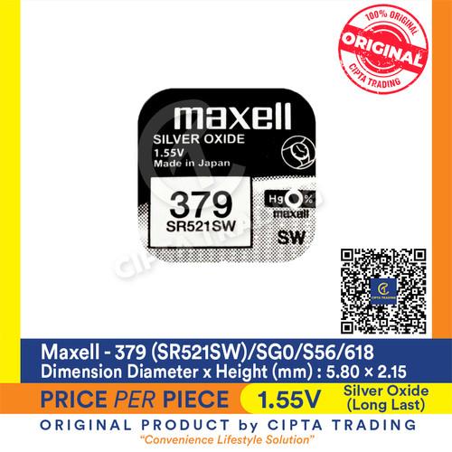 Foto Produk Button Cell - Maxell - 379 (SR521SW) dari Cipta Trading