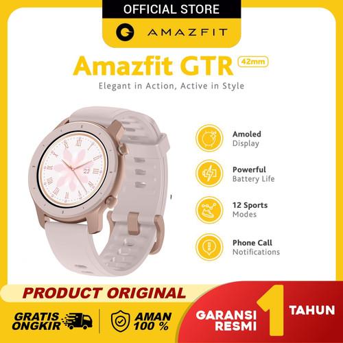 Foto Produk Amazfit GTR 42mm Smartwatch International Version Garansi Resmi - Blossom Pink dari Amazfit Official