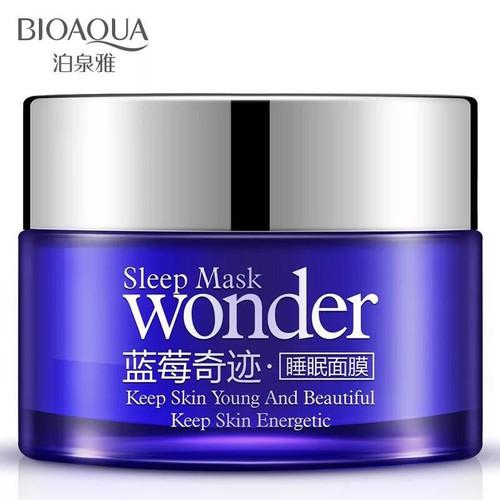 Foto Produk BIOAQUA WONDER ESSENCE CREAM BILBERRY BLUEBERRY SLEEP MASK 50GR dari Bursa Cosmetik Murah