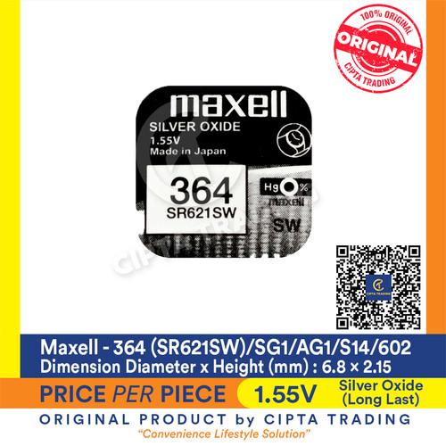 Foto Produk Button Cell - Maxell - 364 (SR621SW) dari Cipta Trading