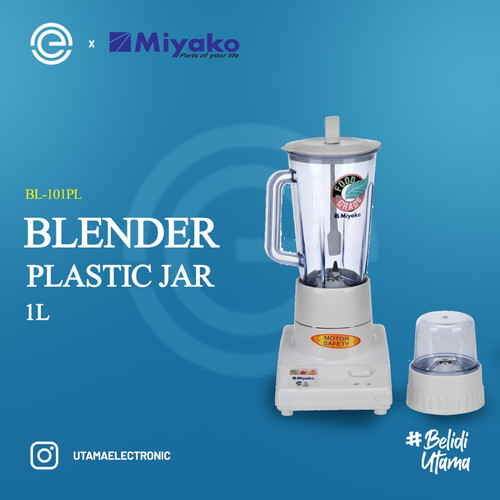Foto Produk MIYAKO Blender Plastik 2 in 1 - BL101PL dari UTAMA_ELECTRONIC