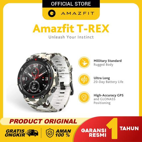 Foto Produk Amazfit T-Rex Smartwatch With 12 Military Certification Garansi Resmi - Camo Green dari Amazfit Official
