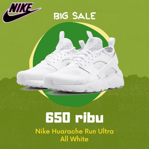 Promo - Nike Huarache Run Ultra All White - 36