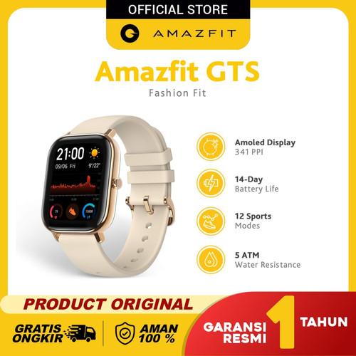 Foto Produk Amazfit GTS Smartwatch Fashion Fit International Version Garansi Resmi - Desert Gold dari Amazfit Official