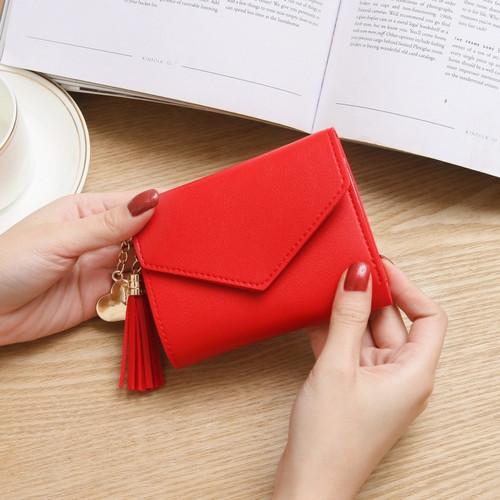 Foto Produk Dompet wanita | Dompet kecil wanita | Dompet lipat wanita polos S177F - Merah dari Disiniada168