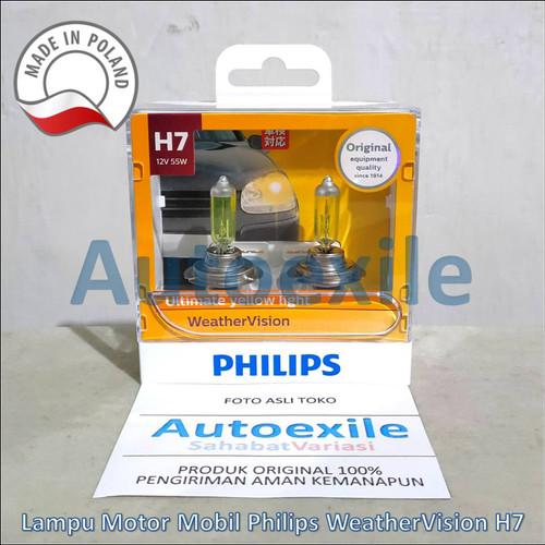 Foto Produk Philips New Weather Vision H7 12V 55W 2900K (Lampu Depan Kuning Mobil) dari Autoexile