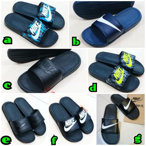 Foto Produk sandal slop Nike Bennasi Vans sandal karet empuk dari KuyindShop