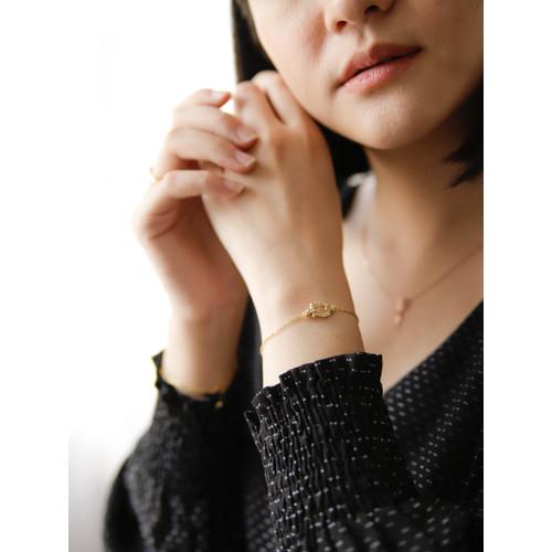 Foto Produk Dear Me - Dhea Bracelet (925 Sterling Silver & 18K Gold Plated) dari Dear Me Jewelry