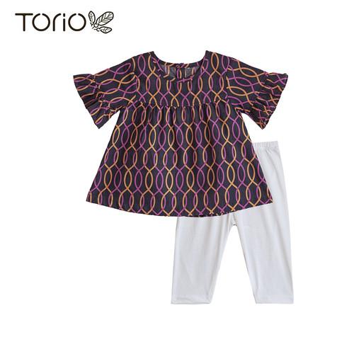 Foto Produk Torio Legging Set Purlpe Fancy - Baju Setelan Anak Perempuan - 2-3 tahun dari Torio