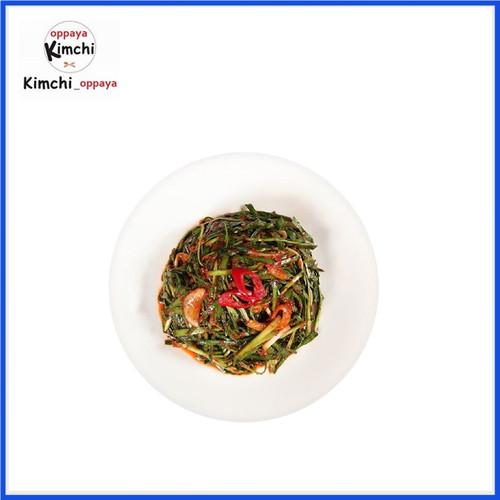 Foto Produk kimchi kucai 500 g dibuat oleh chef korea / buchu kimchi dari kimchi oppaya