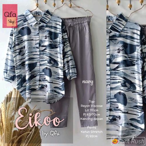 Foto Produk New Eikoo Set Setelan Celana Wanita Baju Kerja Modis XXL LD 110cm dari Ilyassa Shop