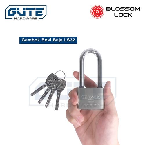 Foto Produk Gembok Besi Baja LS32 Blossom - 30mm 40mm 50mm 60mm Pendek / Panjang - 30mm Pendek dari Gute Hardware