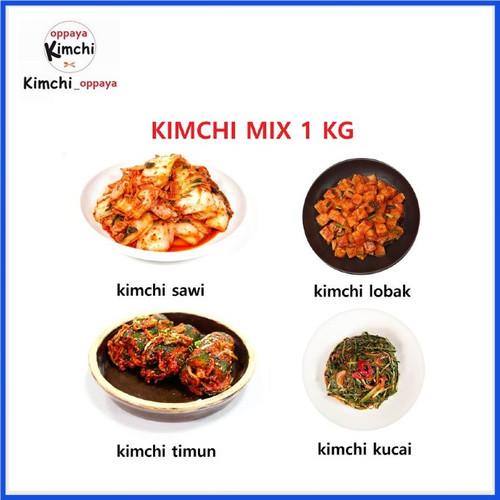 Foto Produk kimchi authentic korea Mix 1 KG dibuat oleh chef korea. dari kimchi oppaya