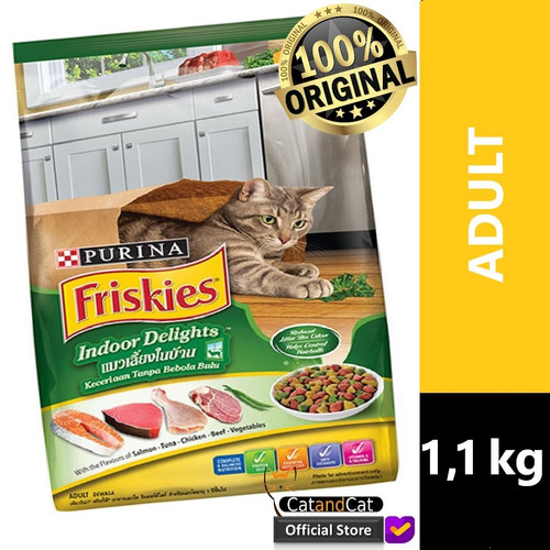 Foto Produk PURINA Friskies Friskies Indoor Delights Ukuran 1,1kg dari catandcat