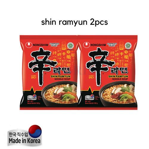 Foto Produk Nongshim Bundling Shin Ramyun 120g 2pcs Made in Korea dari Warung K-Food