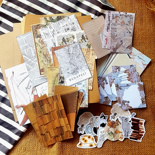 "Foto Produk Jurnal Kit Journal Edisi Vintage ""YFK_Klips"" Scrapbook/Stiker/Memo dari My YFK_Klips"