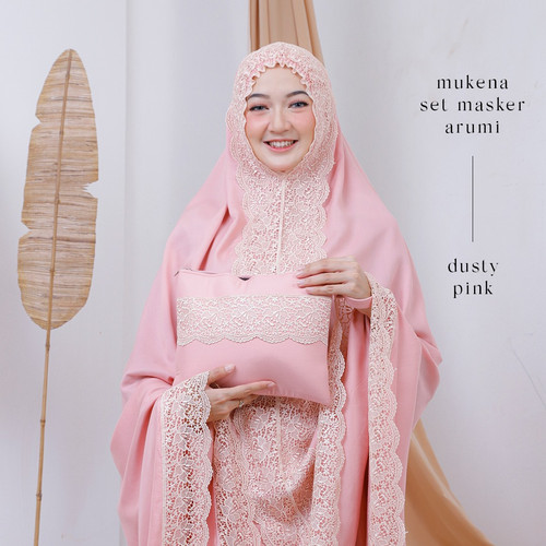 Foto Produk MUKENA DEWASA RAYON SET MASKER ARUMI ( DUSTY PINK ) dari Pusat Mukena Indonesia