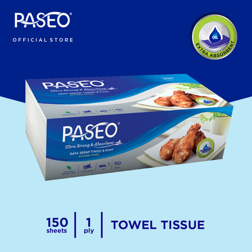 Foto Produk Paseo Elegant Tissue Dapur 150 Sheets dari Paseo Tissue Official