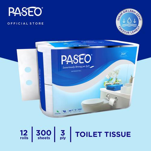 Foto Produk Paseo Elegant Tissue Toilet Roll Core Non Emboss 300 Sheets x 12 Roll dari Paseo Tissue Official
