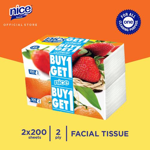 Foto Produk Nice Tissue Wajah Soft Pack 200 Sheets (Buy 1 Get 1 FREE) dari Paseo Tissue Official