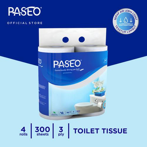 Foto Produk Paseo Elegant Tissue Toilet Core Roll Emboss 300 Sheets x 4 Roll dari Paseo Tissue Official