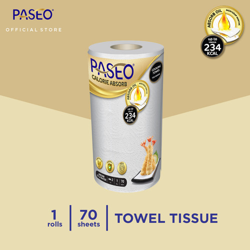 Foto Produk Paseo Calorie Absorbs Cooking Towel Roll White Emboss 70 Sheets 1 Roll dari Paseo Tissue Official