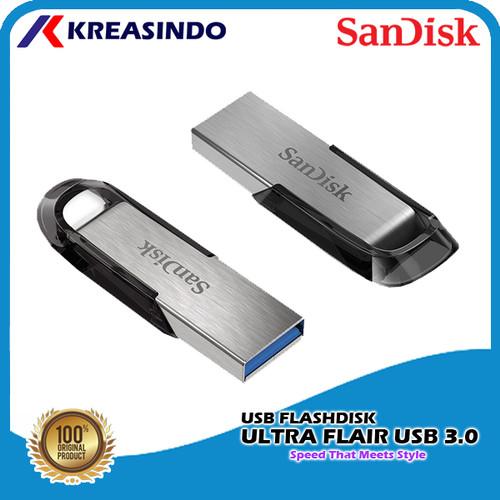Foto Produk Sandisk Ultra Flair Usb 3.0 Flashdisk 32gb 64gb 128gb 256gb 512gb - 32gb dari Kreasindo Online