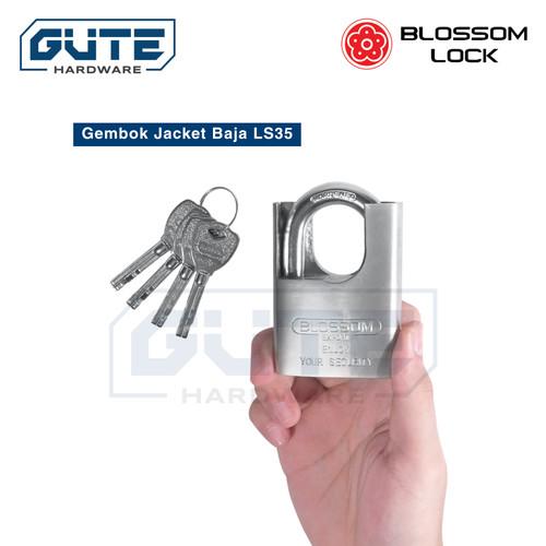 """Foto Produk Gembok Jaket """"Blossom"""" Tipe LS 35 Untuk Pintu Pagar Rumah Toko Gudang - 60 mm dari Gute Hardware"""