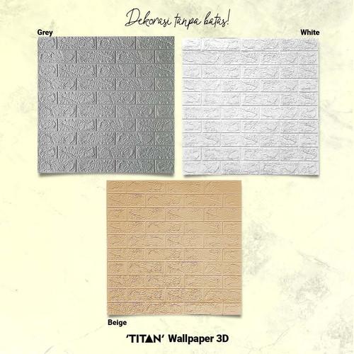 Foto Produk [CSG.ID] Wallpaper 3D TITAN 3mm 70X77 Motif BATA. - BATA PUTIH 3MM dari Carpet Shop Indonesia