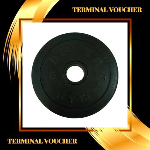 Foto Produk plate rubbered delta gym 5kg (bisa untuk stick kettler) dari terminal voucher