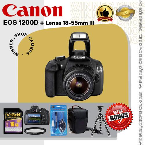 Foto Produk Kamera DSLR Canon EOS 1200D + Lensa 18-55mm III dari winner,shop camera