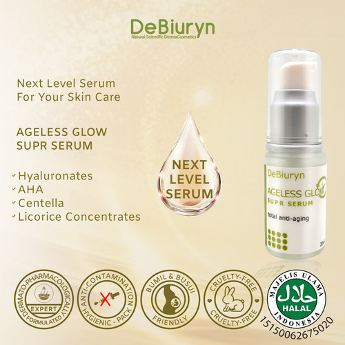 Foto Produk DeBiuryn Ageless Glow SUPER SERUM 20ml - Anti Aging Glowing dari Debiuryn Dermacosmetics