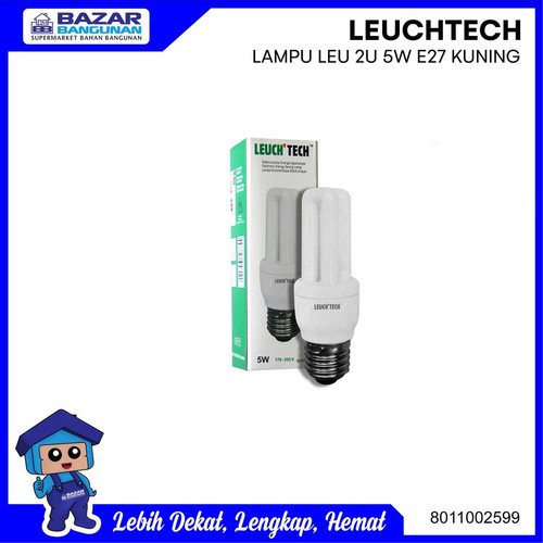 Foto Produk LAMPU BOHLAM / LIGHT BULB LEUCH TECH LEUCHTECH 2U E 27 E27 5W KUNING dari Bazar Bangunan