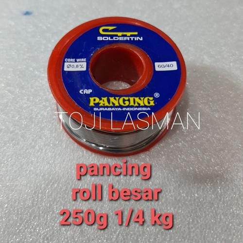 Foto Produk timah tinol patri solder pancing alfa asahi paragon roll besar 1/4 kg - PANCING dari lasman toji