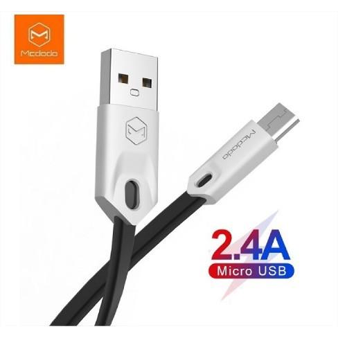 Foto Produk Mcdodo CA-0833 Gorgeus Series Micro USB Cable Fast Charging 2.4A 1M - Hitam dari GADZILA STORE