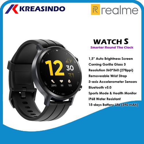 Foto Produk Realme Watch S Smartwatch Garansi Resmi - Hitam dari Kreasindo Online
