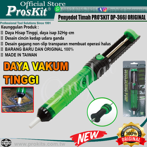 Foto Produk Penyedot Timah PRO'SKIT DP-366J ORIGINAL dari Pro'sKit
