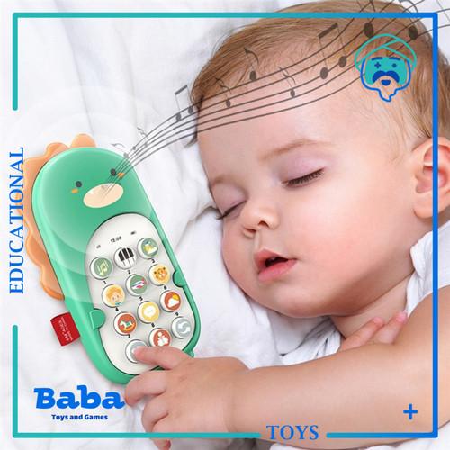 Foto Produk Mainan Edukasi Bayi Telepon Handphone HP Musik Phone Dinosaurus - Hijau dari Baba Toys and Games