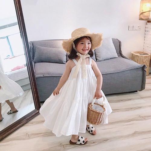 Foto Produk Plain Flare Dress - Dress Pantai Polos Putih Anak dari Lilfashionista