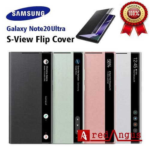 Foto Produk Flip Clear View Cover Case Samsung Note 20 Ultra 20Ultra Original 100% - Hitam dari redangus