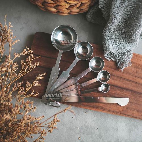 Foto Produk 6in1 Set Measuring Spoons Stainless (Sendok Takar) dari Nourish Indonesia