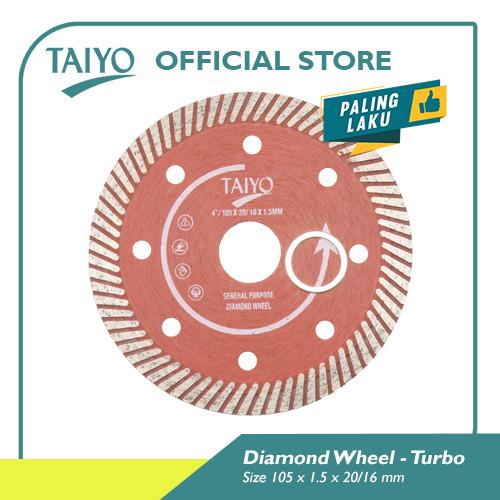 Foto Produk Taiyo Diamond Wheel Turbo For Marble & Granite 105mm dari Taiyo Perkakas Official
