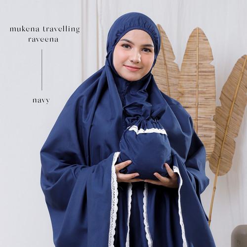 Foto Produk MUKENA DEWASA TRAVELLING KATUN RAVEENA (NAVY) dari Pusat Mukena Indonesia