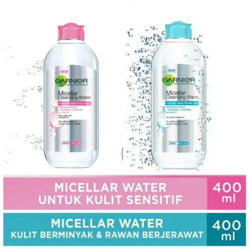 Foto Produk Garnier Micellar Water Cleansing 400 mL Pink/ Blue - PINK dari joko swalayan