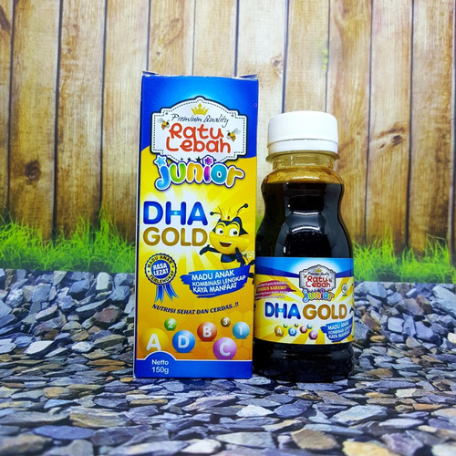 Foto Produk madu anak kombinasi lengkap nutrisi sehat DHA GOLD RATU LEBAH 150 g dari zhamamy herbatonik