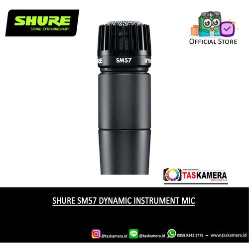 Foto Produk SHURE SM57 Dynamic Instrument Microphone - SHURE Microphone - SM57 Non Kabel dari taskamera-id